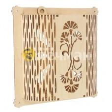 Вентиляционная решетка с цветами